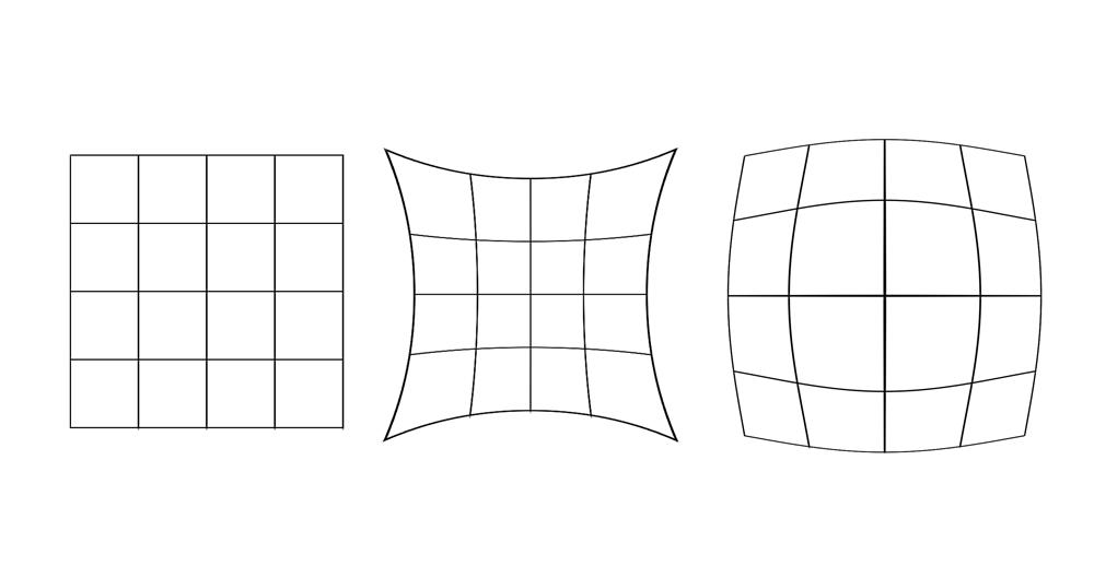Примеры дисторсии объектива