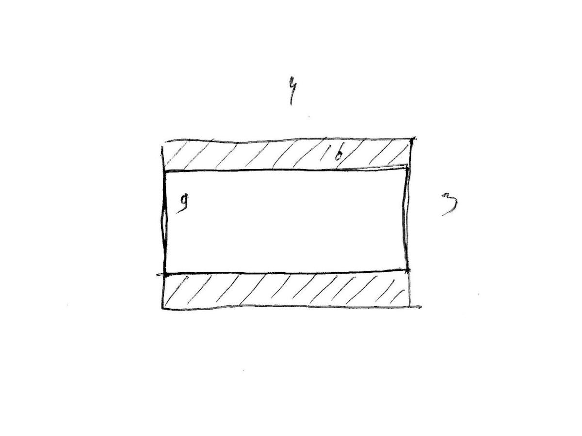 Две трети площади матрицы